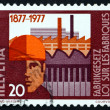 Postage stamp Switzerland 1977 Worker and Factories — Stock Photo #18651619