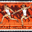 Stock Photo: Postage stamp Greece 1969 Relay Race and Runners from Amphora