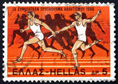 Postage stamp Greece 1969 Relay Race and Runners from Amphora — Stock Photo