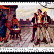 Stock Photo: Postage stamp Albani1971 Execution of Halili