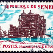 Postage stamp Senegal 1964 Dredging of Titanium-bearing Sand — Stock Photo #18864507