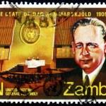 Postage stamp Zambia 1971 Dag Hammarskjold — Stock Photo #18865073
