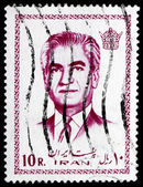Postage stamp Iran 1971 Mohammad Reza Shah Pahlavi — Stock Photo