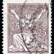 Postage stamp Czechoslovakia 1920 Breaking Chains to Freedom - Stock Photo