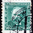 Stock Photo: Postage stamp Czechoslovaki1934 Antonin Dvorak, Composer