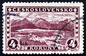 Postage stamp Czechoslovakia 1927 Great Tatra, Mountains — Stock Photo