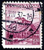 Postage stamp Czechoslovakia 1936 Castle Palanok, Mukacevo — Stockfoto