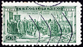 Postage stamp Czechoslovakia 1934 Consecration of Legion Colors — Stock Photo