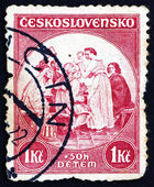 Postage stamp Czechoslovakia 1936 Newborn Child, Painting — Stock Photo