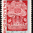 Stock Photo: Postage stamp Czechoslovaki1967 Detail from Torah Curtain