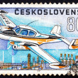 Postage stamp Czechoslovaki1967 Aero Taxi L-200, Airplane — Stock Photo #19191133
