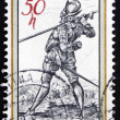 Postage stamp Czechoslovaki1982 Lute Player — Stock Photo #19191681