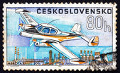 Postage stamp Czechoslovakia 1967 Aero Taxi L-200, Airplane — Stock Photo