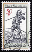 Postage stamp Czechoslovakia 1982 The Lute Player — Stock Photo