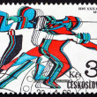 Stock Photo: Postage stamp Czechoslovaki1980 Fencing, Olympic Games, Moscow
