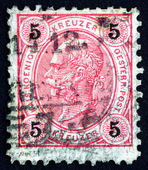 Postage stamp Austria 1890 Franz Josef, Emperor of Austria — Stock Photo