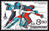 Postage stamp Czechoslovakia 1980 Fencing, Olympic Games, Moscow — Stock Photo
