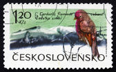 Postage stamp Czechoslovakia 1965 Lesser Redpoll, Bird — Stock Photo