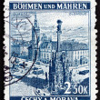 Postage stamp Czechoslovakia 1939 Town Square, Olomouc — Stock Photo