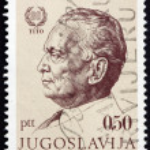Постер, плакат: Postage stamp Yugoslavia 1972 Marshal Tito by Jakac