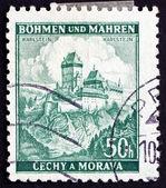Hrad Karlštejn poštovních známek Československa 1939 — Stock fotografie