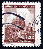 Postage stamp Czechoslovakia 1939 Cathedral at Brno — Stock Photo