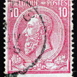 Postage stamp Belgium 1884 King Leopold II of Belgium — Stock Photo