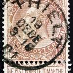 Постер, плакат: Postage stamp Belgium 1893 King Leopold II of Belgium
