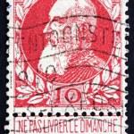 Постер, плакат: Postage stamp Belgium 1905 King Leopold II of Belgium