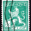 Stock Photo: Postage stamp Belgium 1912 Lion of Belgium