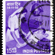 Postage stamp India 1958 Nurse and Child — Stock Photo