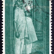 Stock Photo: Postage stamp Indi1959 Children Arriving at Institution