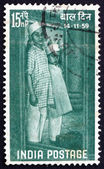Postage stamp India 1959 Children Arriving at Institution — Stock Photo
