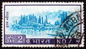 Postage stamp India 1967 View of Dal Lake, Kashmir — Foto de Stock