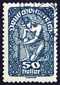 Postage stamp Austria 1919 Man, Allegory of New Republic — Stock Photo