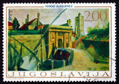 Postage stamp Yugoslavia 1968 Porta Terraferma, Zadar, by Ferdo — Stock Photo