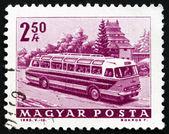 Postage stamp Hungary 1963 Tourist Bus — Stock Photo
