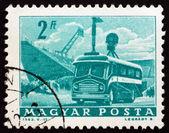 Postage stamp Hungary 1963 Mobile Radio Transmitter — Stock Photo