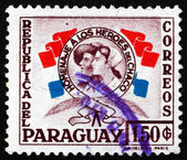 Postage stamp Paraguay 1957 Heroes of the Chaco War — Stock Photo