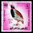 Postage stamp Iraq 1968 Black Francolin, Gamebird - Stock Photo