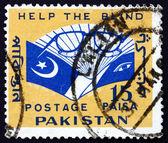 Postage stamp Pakistan 1965 Eyeglasses and Book — Stock Photo