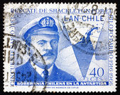 Postage stamp Chile 1967 Capt. Luis Pardo — Stock Photo