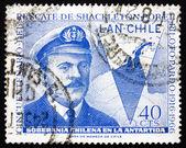 Postage stamp Chile 1967 Capt. Luis Pardo — Stock Photo