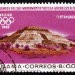 Stock Photo: Postage stamp Panam1967 IndiRuins at Teotihuacan