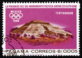 Postage stamp Panama 1967 Indian Ruins at Teotihuacan — Stock Photo