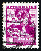 Postage stamp Austria 1934 Woman from Carinthia — Stock Photo