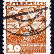 Postage stamp Austria 1934 Woman from Upper Austria — Stock Photo
