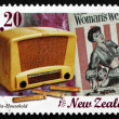 Stock Photo: Postage stamp New Zealand 1999 Old Radio, Nostalgia