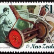 Stock Photo: Postage stamp New Zealand 1999 Old Lawnmower, Nostalgia