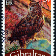Postage stamp Portugal 2008 Eagle Owl, Bubo Bubo, Bird — Stock Photo